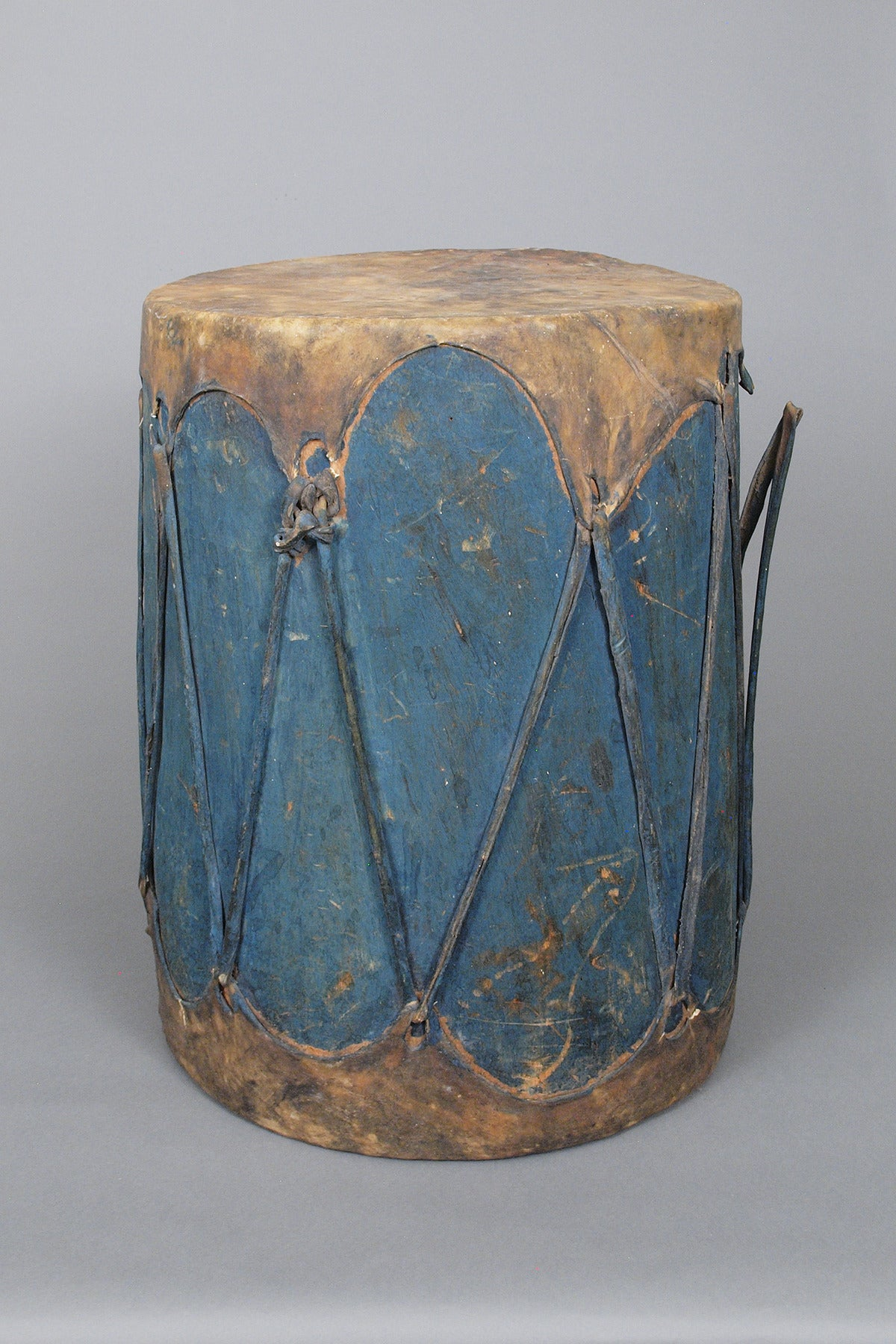 Large Antique Southwestern American Indian Painted Drum Pueblo Circa 1900 For Sale At 1stdibs