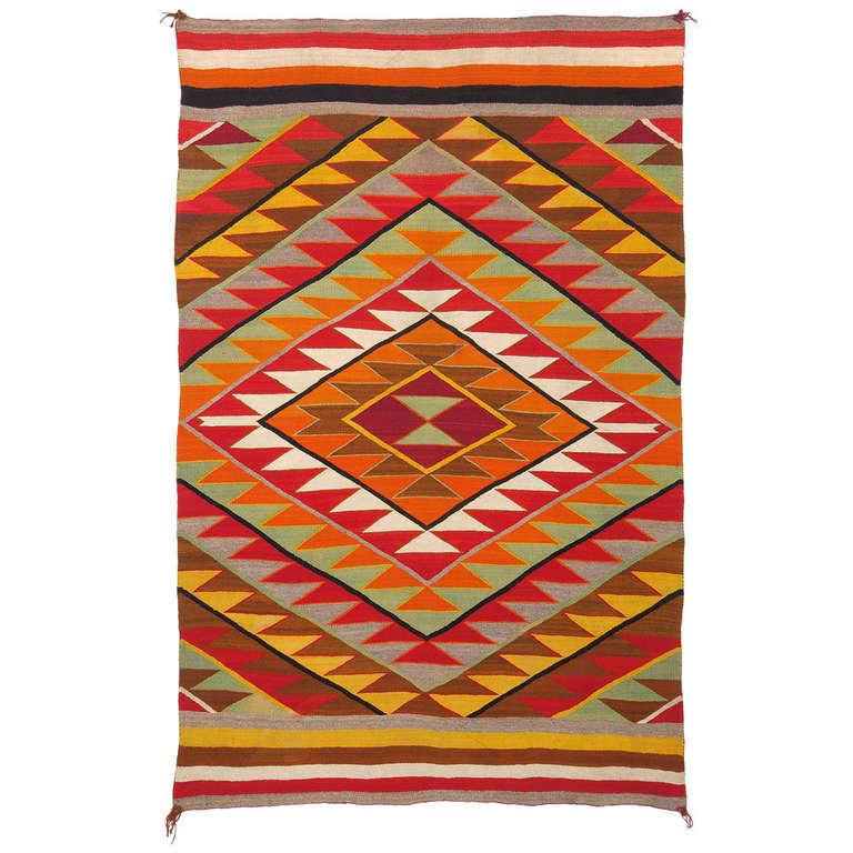 Eye Dazzler Blanket By Navajo Circa 1920 At 1stdibs