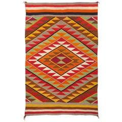 Eye-Dazzler Blanket by Navajo, circa 1920