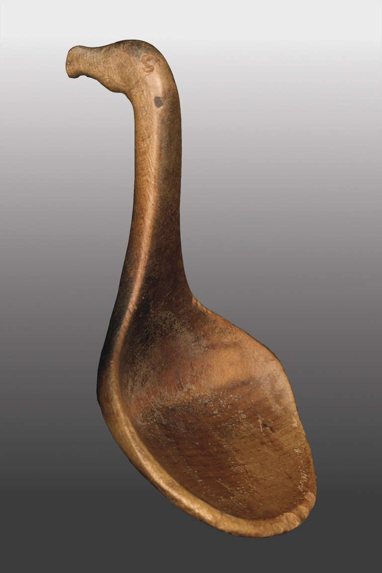 Native american horse effigy spoon mesquakie circa