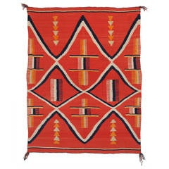 Late Classic Period Navajo Wearing Blanket, circa 1875