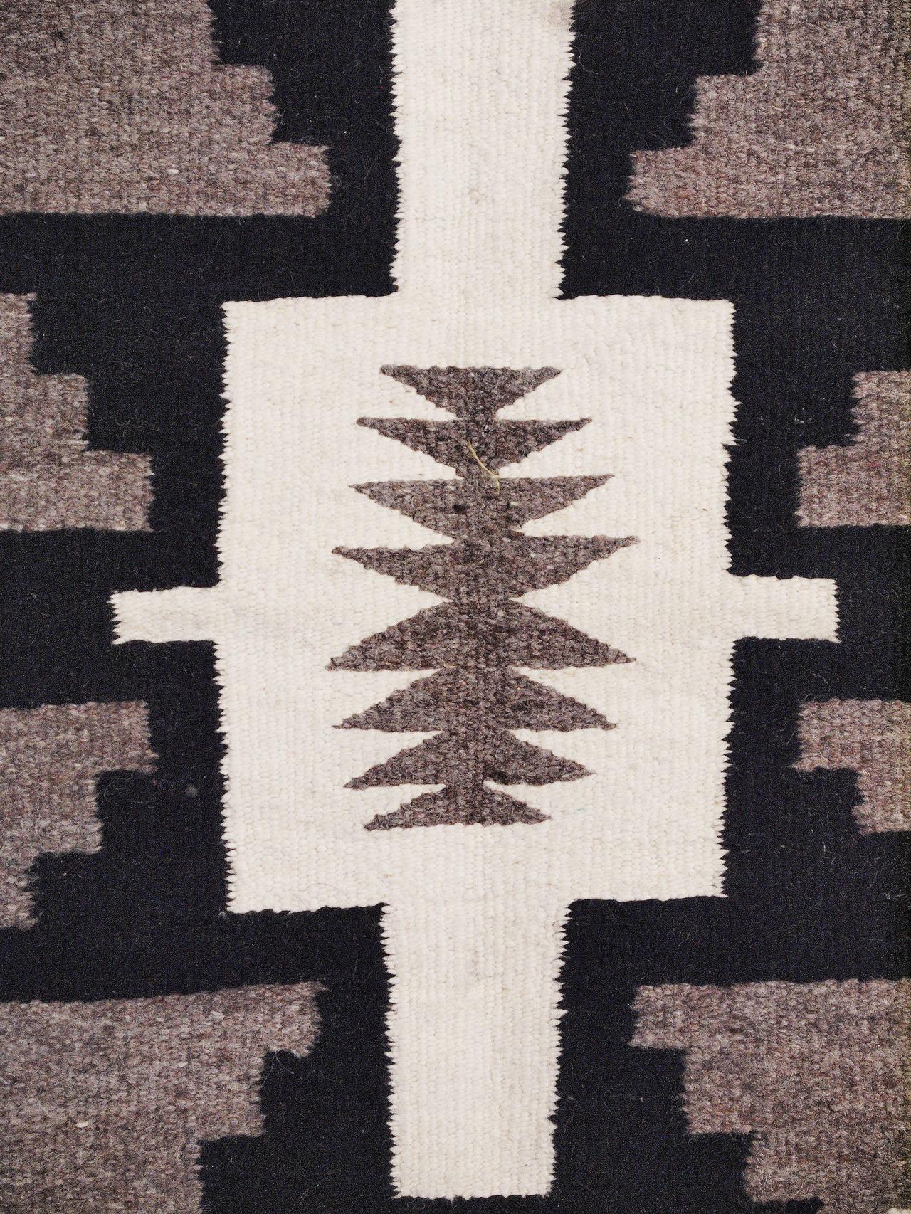 Vintage Navajo Rug Trading Post Regional Style Mid 20th