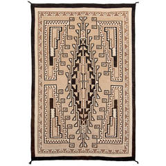 Vintage Two Gray Hills Rug, Navajo Early 20th Century