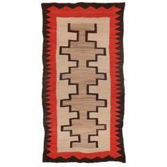 Antique Native American Trading Post Rug, Navajo, circa 1935