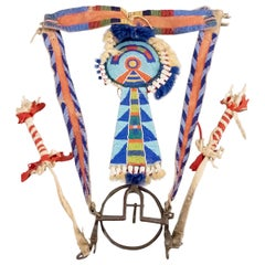 Antique Native American Beaded Horse Bridle, Crow (Plains Indian), 19th Century