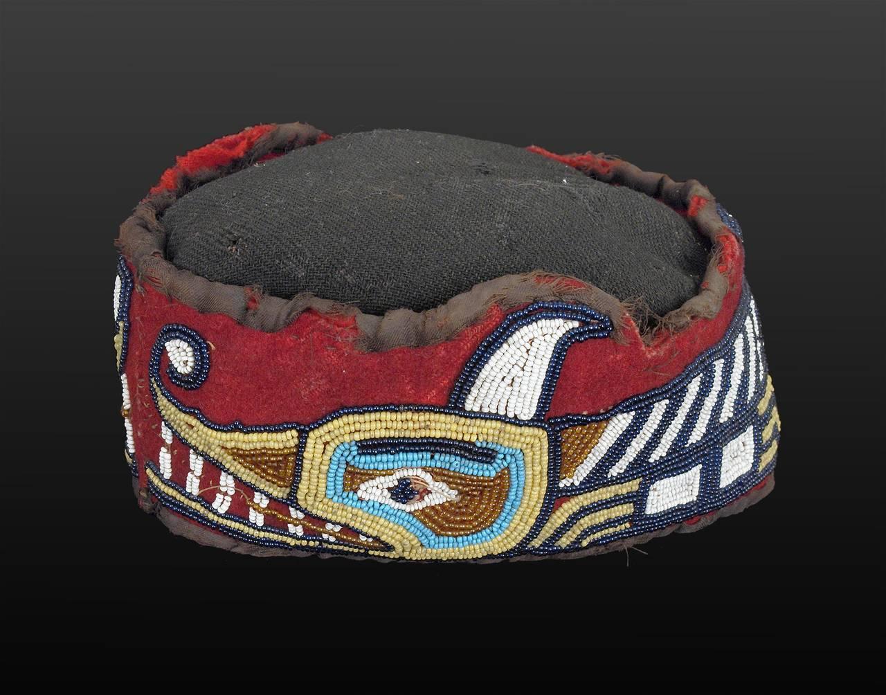 Native American Beaded Head Ring, Kwakwaka'wakw (Kwakiutl), Late 19th Century 2