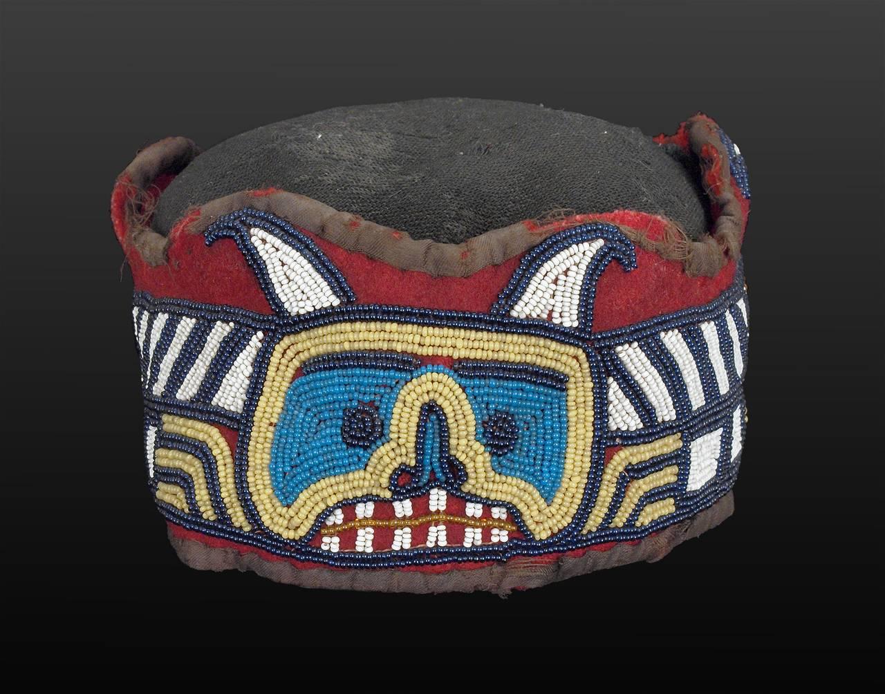 Native American Beaded Head Ring, Kwakwaka'wakw (Kwakiutl), Late 19th Century 3