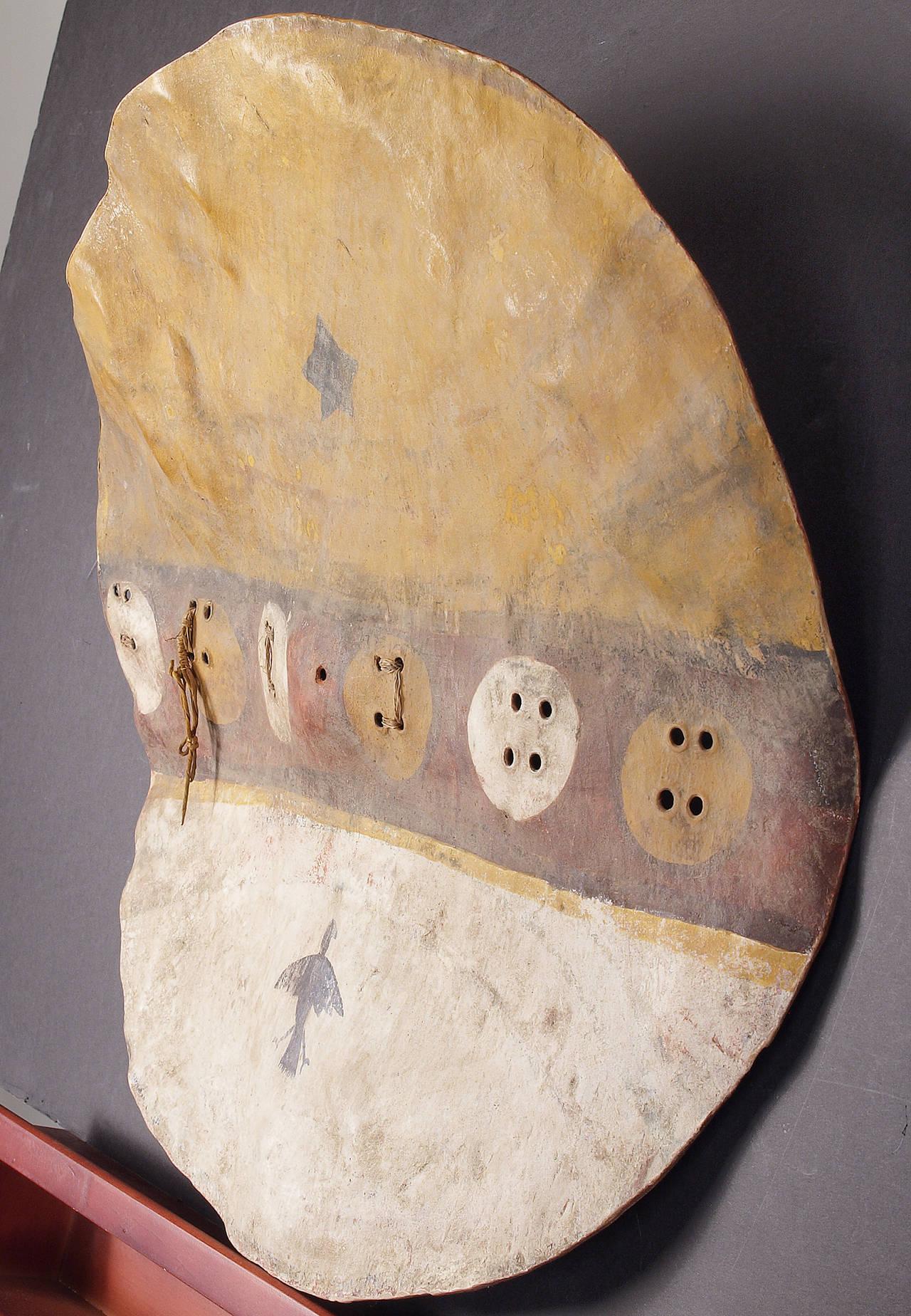 Antique Native American Shield Pueblo Circa 1870 For