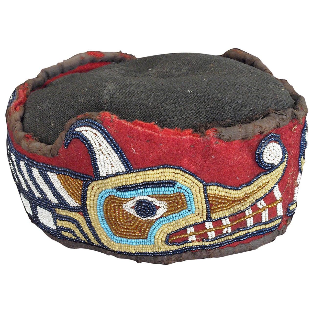 Native American Beaded Head Ring, Kwakwaka'wakw (Kwakiutl), Late 19th Century 1