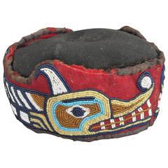 Native American Beaded Head Ring, Kwakwaka'wakw (Kwakiutl), Late 19th Century