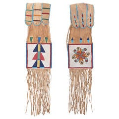 Antique Native American Beaded Tobacco Bag, Crow 'Plains Indian', 19th Century