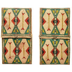 Rare Matching Pair of Parfleche Envelopes, Cheyenne, 19th Century