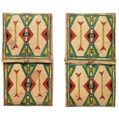 Rare Matching Pair of Parfleche Envelopes, Cheyenne, 19th Century