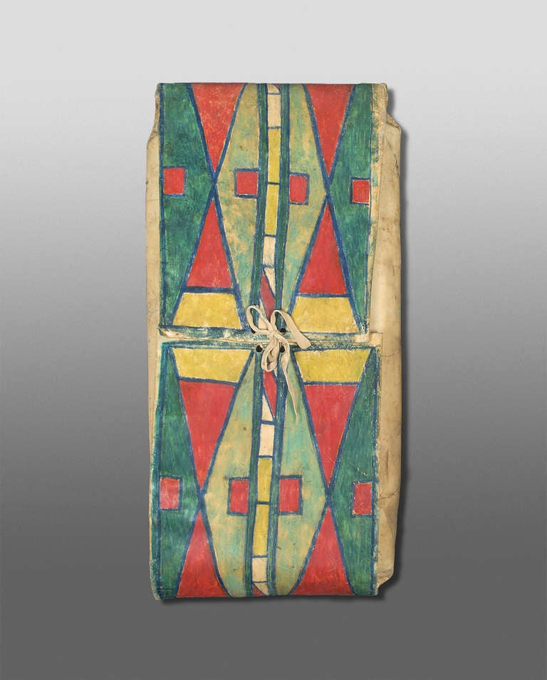 19th century native american parfleche envelope abstract for Native american furniture designs