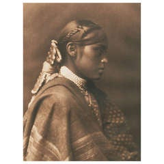 Early 20th Century Image of an Apache Woman by Edward Curtis