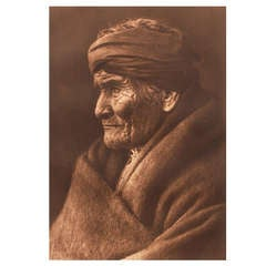 Early 20th Century Image of Geronimo by Edward S. Curtis