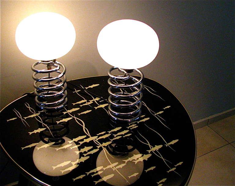 Ein Paar der deutschen Mitte des Jahrhundert Schreibtisch Lampe Ingo Maurer 3
