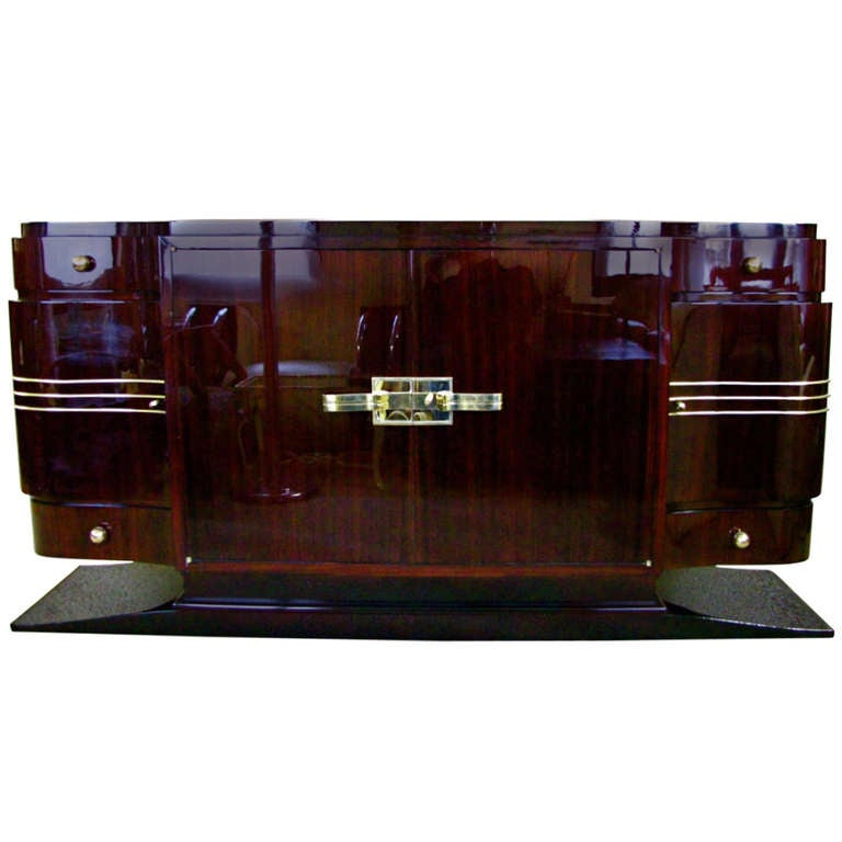 French Art Deco Sideboard Credenza Rosewood Palisander 1935 At 1stdibs