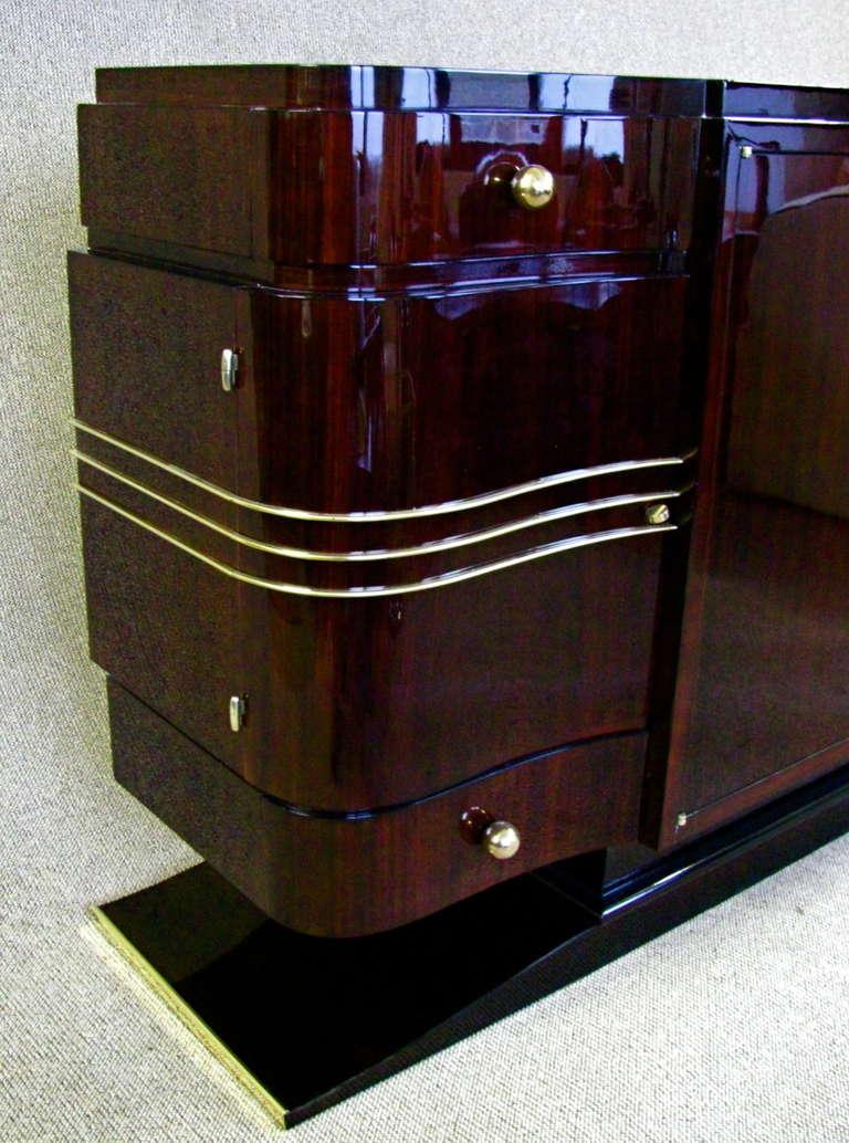 french art deco sideboard credenza rosewood palisander. Black Bedroom Furniture Sets. Home Design Ideas