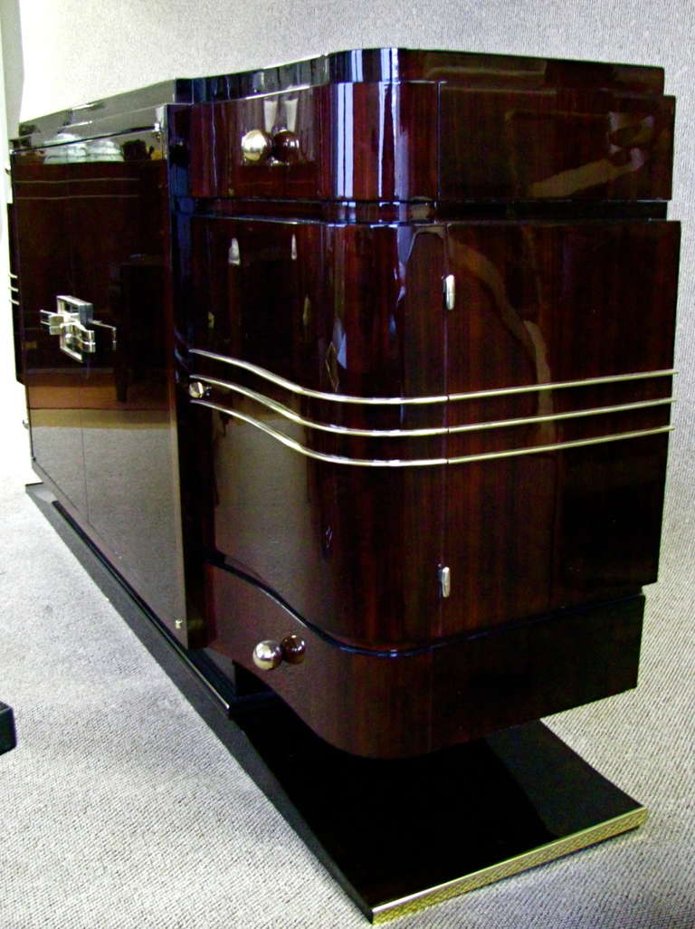 french art deco sideboard credenza rosewood palisander 1935 at 1stdibs. Black Bedroom Furniture Sets. Home Design Ideas