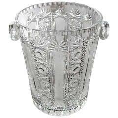 Midcentury Champagne Bucket Czek Bohemian Chrystal 1960