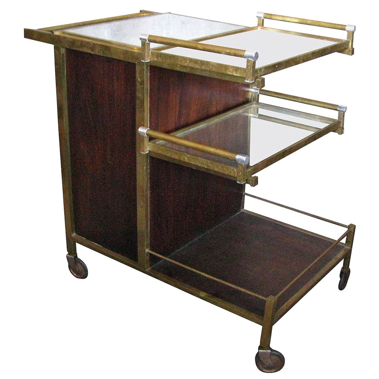 Art Deco Serving Table Bar By Jacques Adnet For Sale At