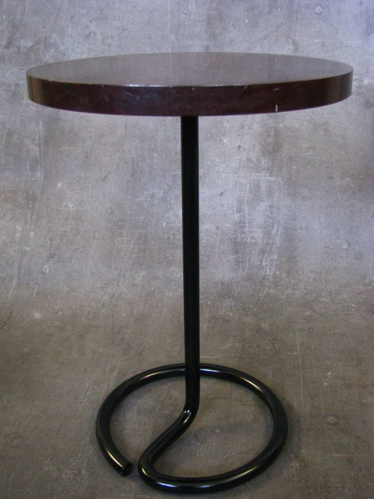 Art Deco Side Coffee Table By Rene Herbst Bakelite, 1940 2