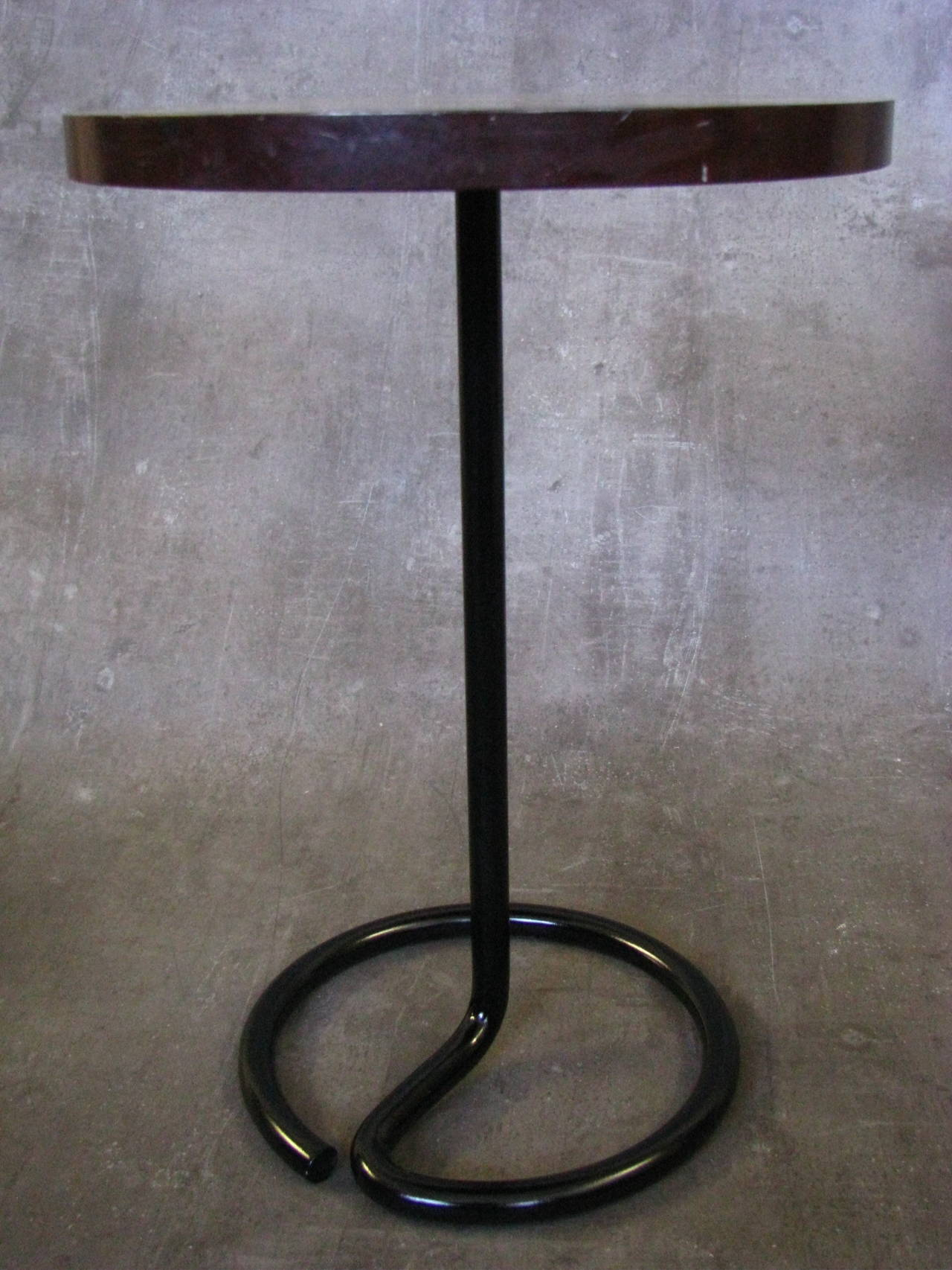 French Art Deco Side Coffee Table by Rene Herbst Bakelite, 1940 For Sale