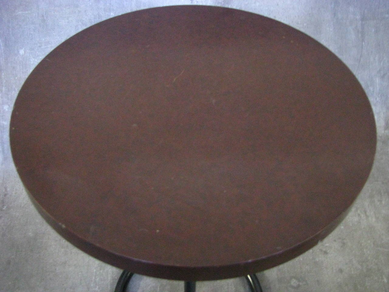 Mid-20th Century Art Deco Side Coffee Table by Rene Herbst Bakelite, 1940 For Sale