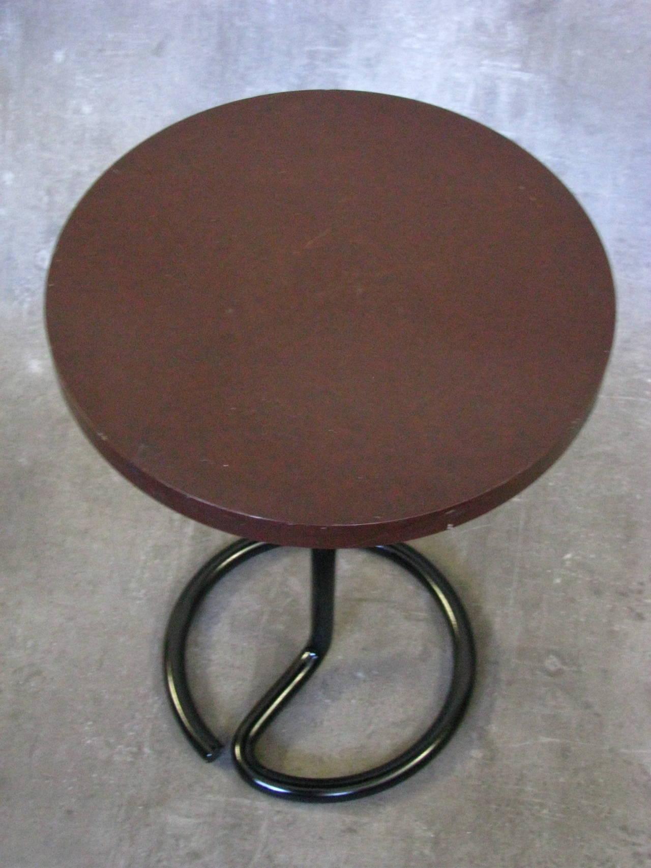 Art Deco Side Coffee Table by Rene Herbst Bakelite, 1940 For Sale 1