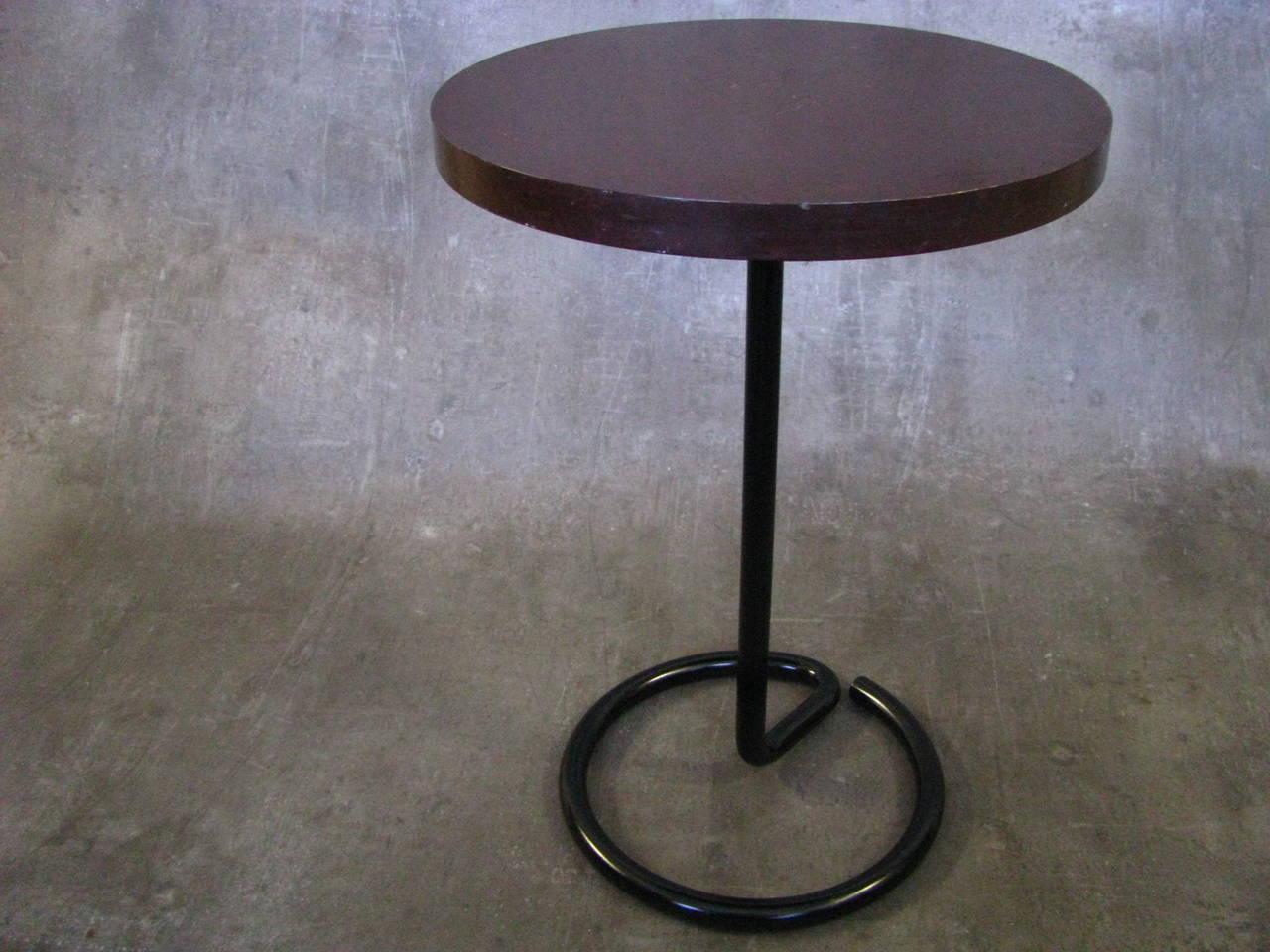 Art Deco Side Coffee Table by Rene Herbst Bakelite, 1940 For Sale 5