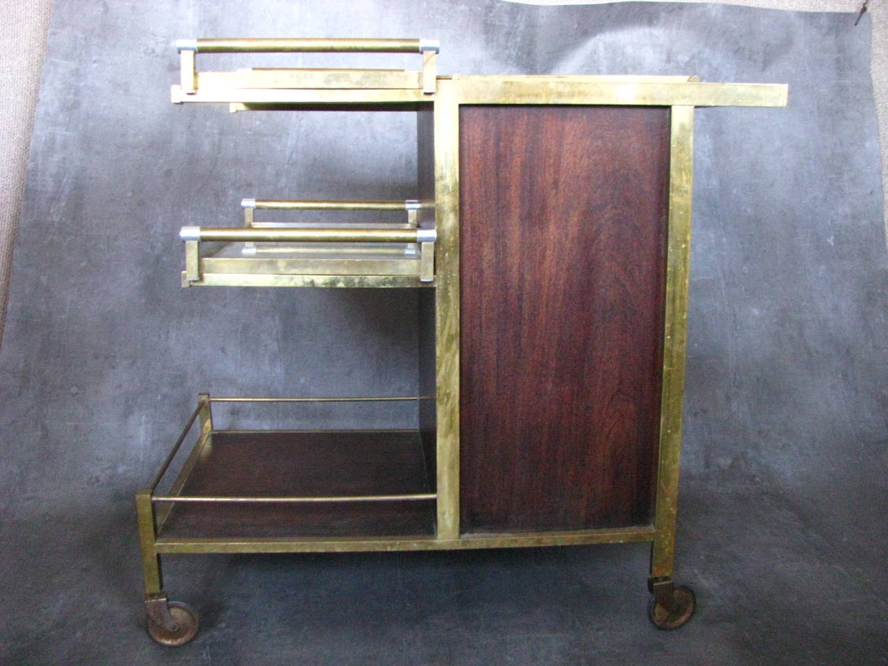 Art Deco Serving Table Bar By Jacques Adnet At 1stdibs