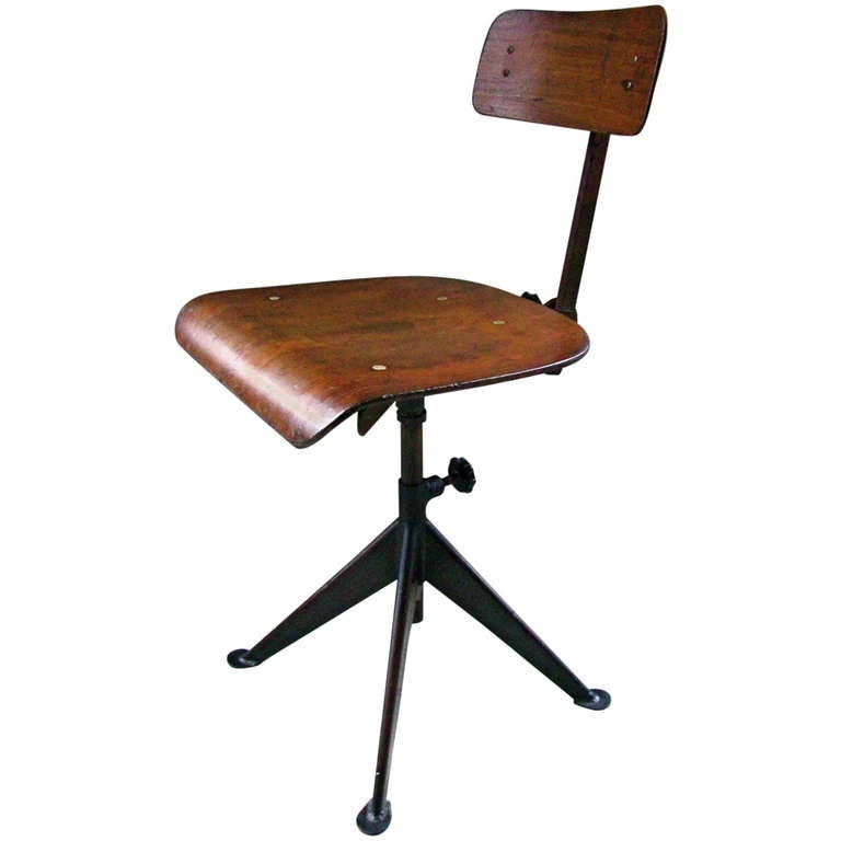 Jean prouve french mid century industrial art deco atelier for Atelier st jean chaise bercante