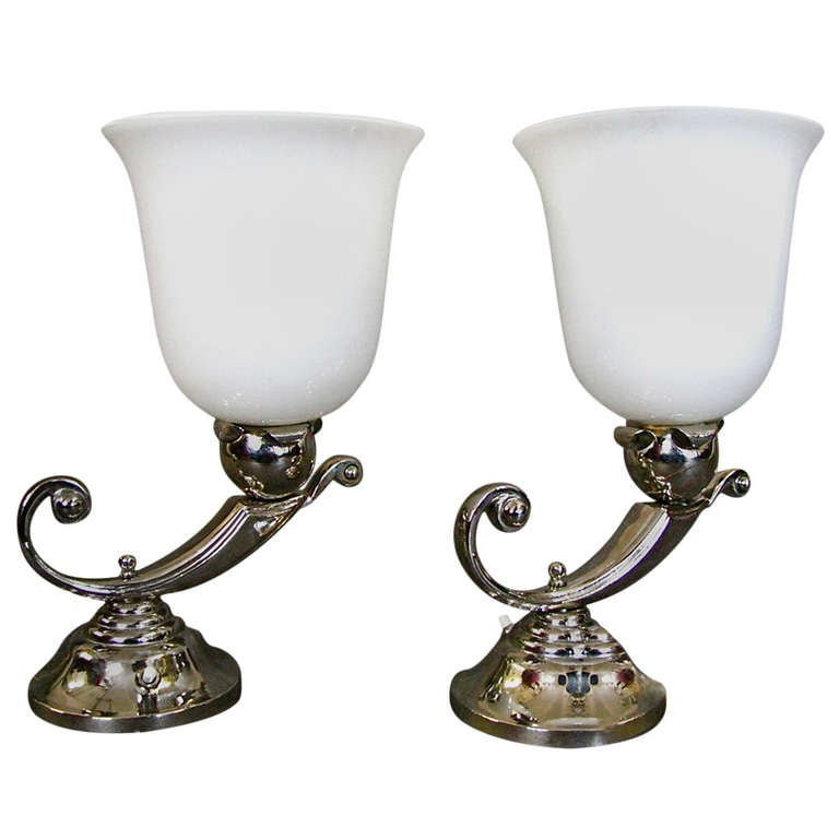 A Pair of Art Deco Table Lamps, Mazda 1930