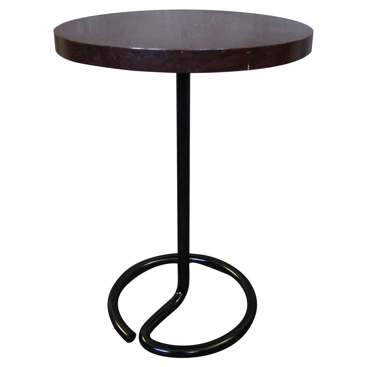 Art Deco Side Coffee Table by Rene Herbst Bakelite, 1940 For Sale
