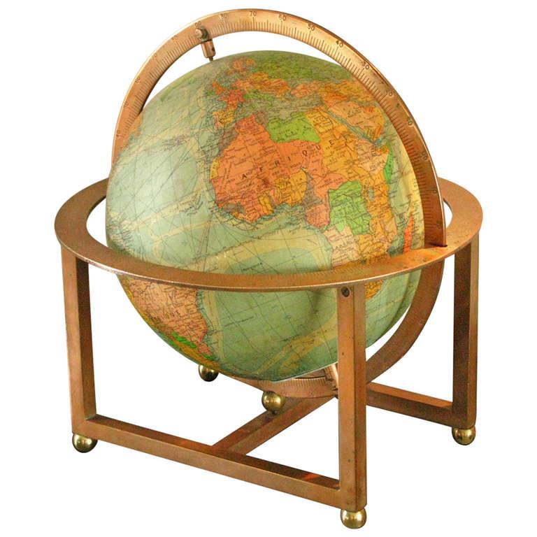 art deco globe table desk lamp at 1stdibs. Black Bedroom Furniture Sets. Home Design Ideas