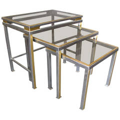 1970s Nesting Tables by Guy Lefevre for Maison Jansen, France