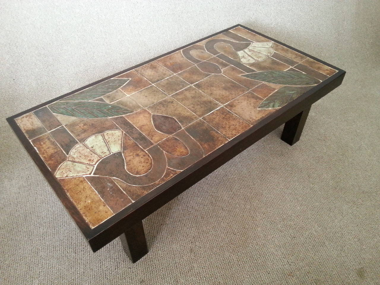 1960s Ceramic Coffee Table, Vallauris, France For Sale 4
