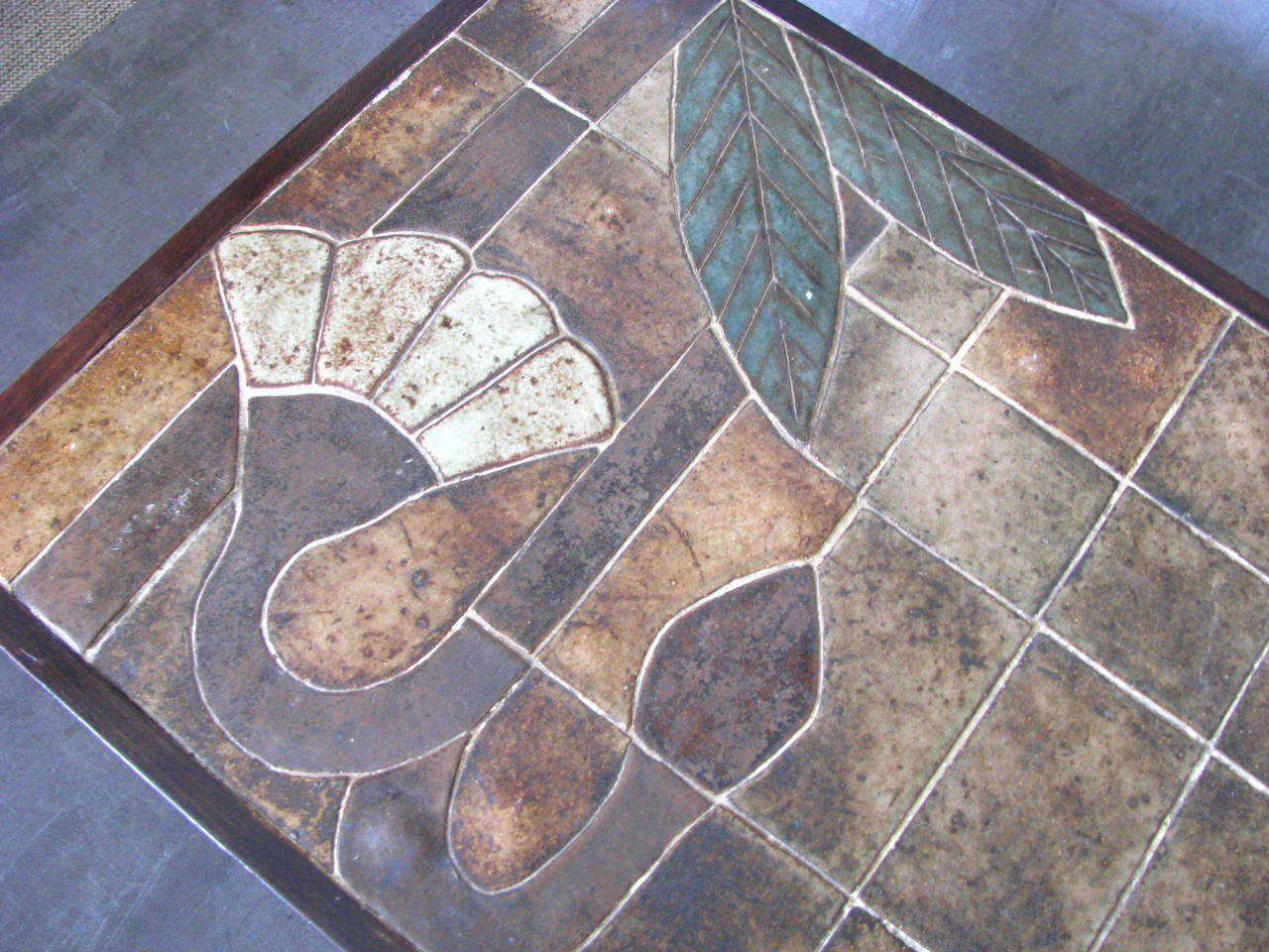 French 1960s Ceramic Coffee Table, Vallauris, France For Sale