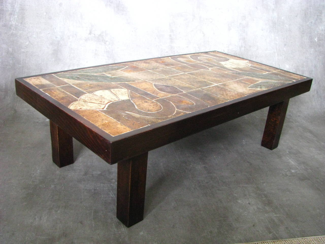 1960s Ceramic Coffee Table, Vallauris, France For Sale 1