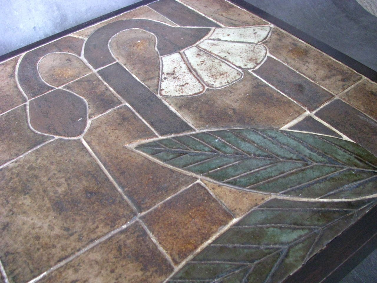 1960s Ceramic Coffee Table, Vallauris, France For Sale 2