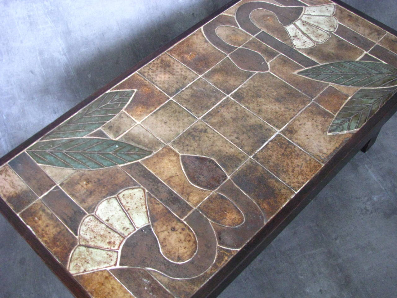 1960s Ceramic Coffee Table, Vallauris, France For Sale 3