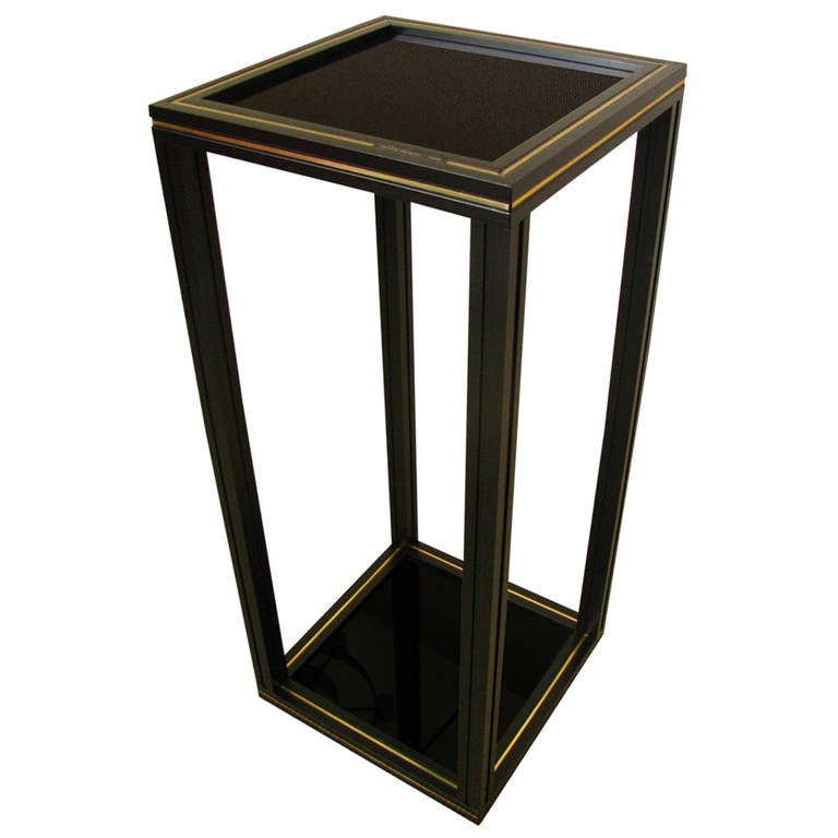 midcentury side table pedestal by pierre vandel paris at 1stdibs. Black Bedroom Furniture Sets. Home Design Ideas
