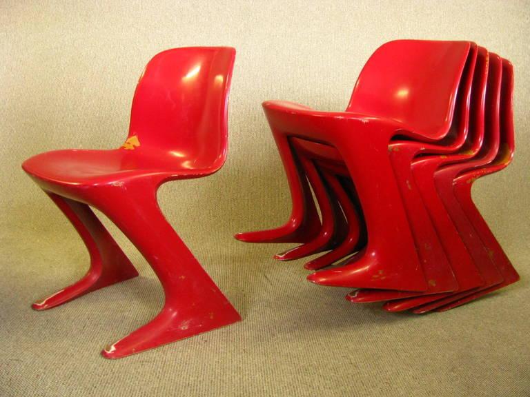 Set Of Six Midcentury German Dining Chairs Ernst Moeckel