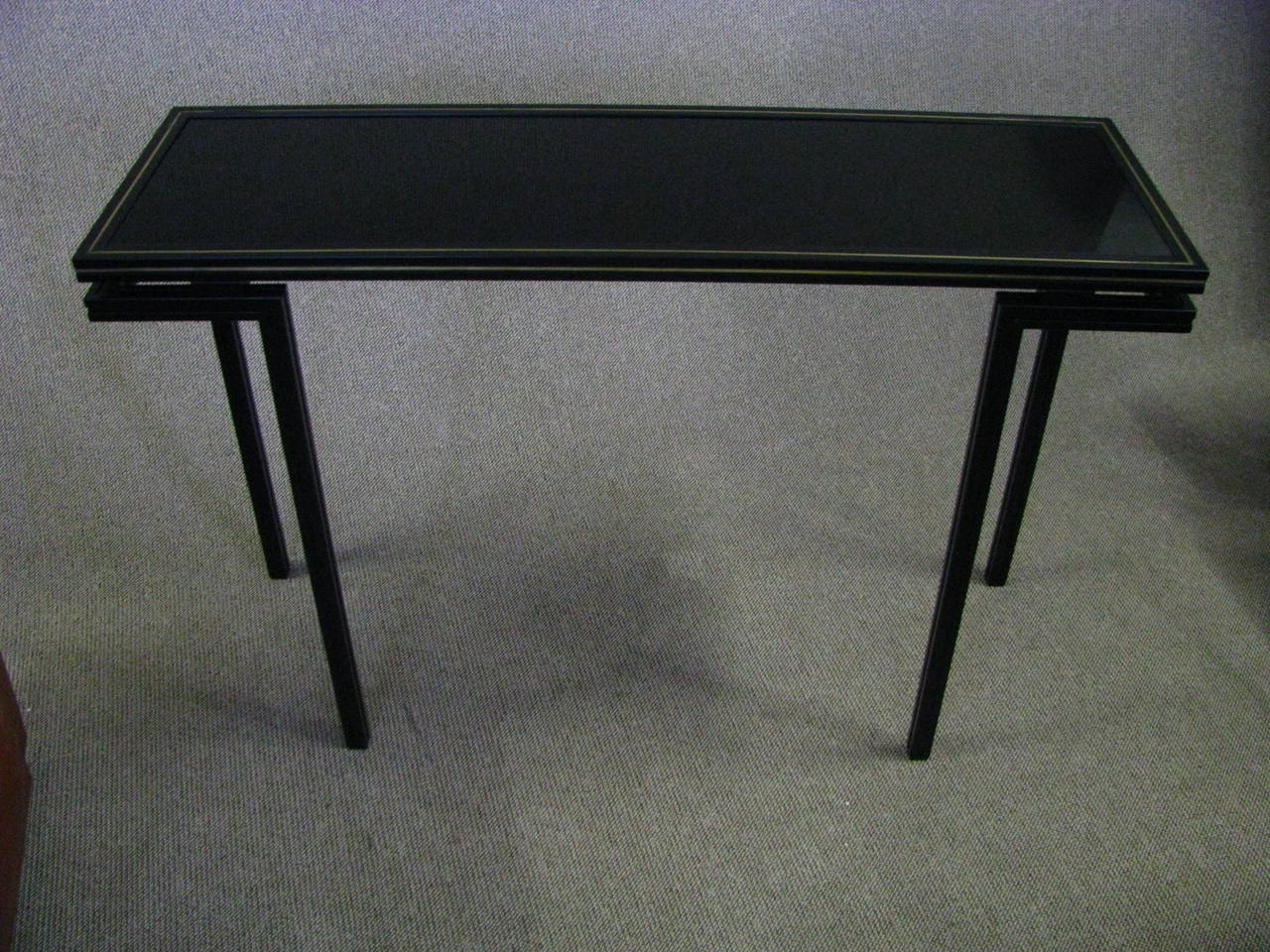 midcentury side table console by pierre vandel paris at 1stdibs. Black Bedroom Furniture Sets. Home Design Ideas