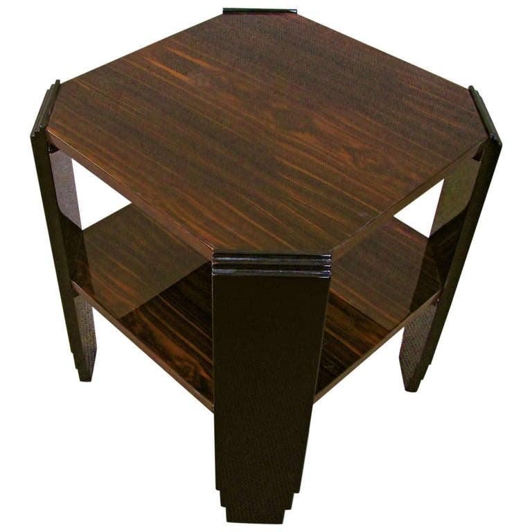 Cubistic Art Deco Side Table Macassar 1