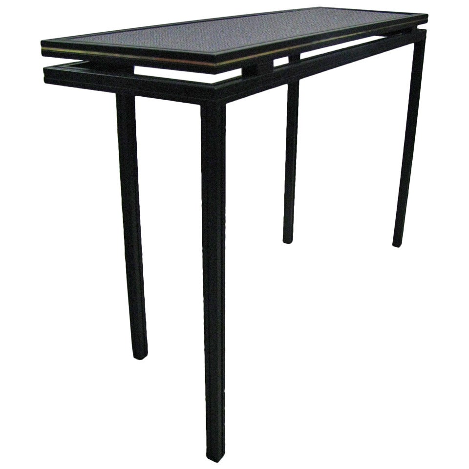 midcentury side table console by pierre vandel paris for sale at 1stdibs. Black Bedroom Furniture Sets. Home Design Ideas