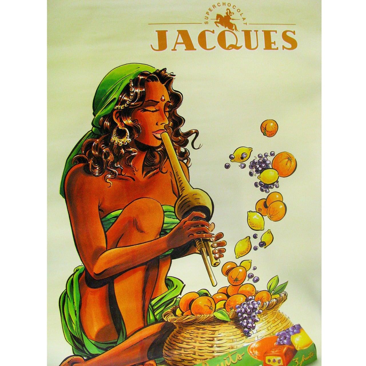 Oversized Chocolate Advertising Poster, Belgium, 1999