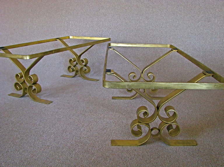 French Art Deco 1940's Endtables Wrought Iron For Sale 6