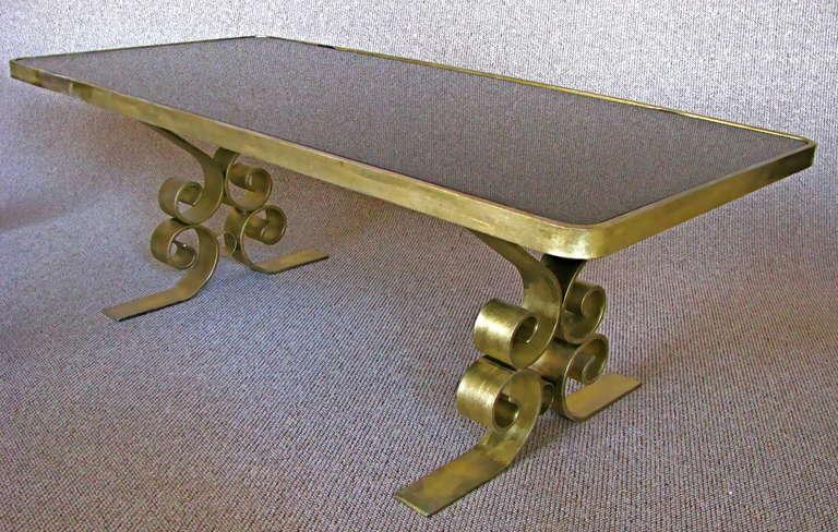 French Art Deco 1940's Endtables Wrought Iron In Good Condition For Sale In Saarbruecken, DE